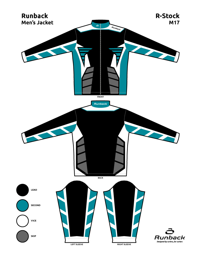 Runback Curling Jacket Stock Design M17