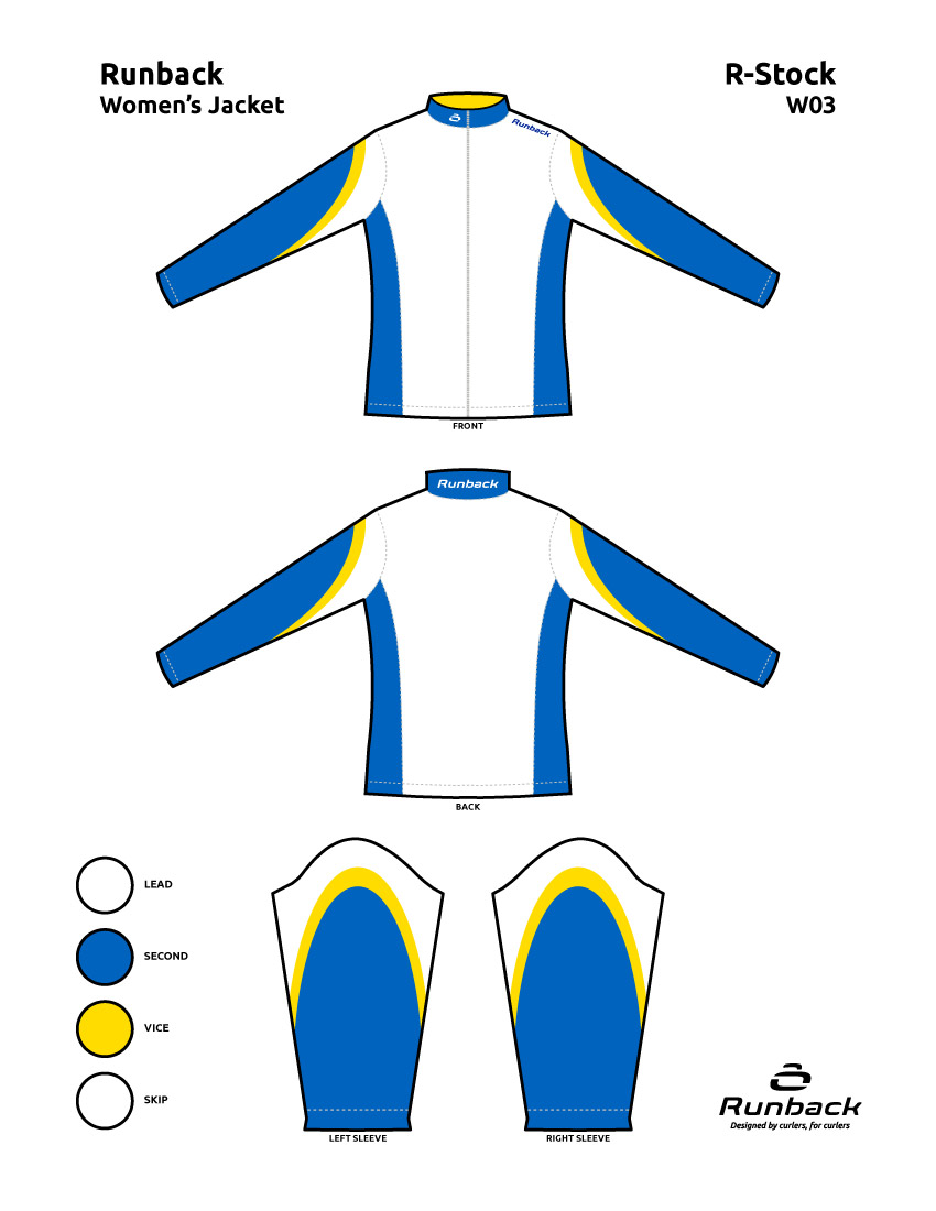 Runback Curling Jacket Stock Design W03