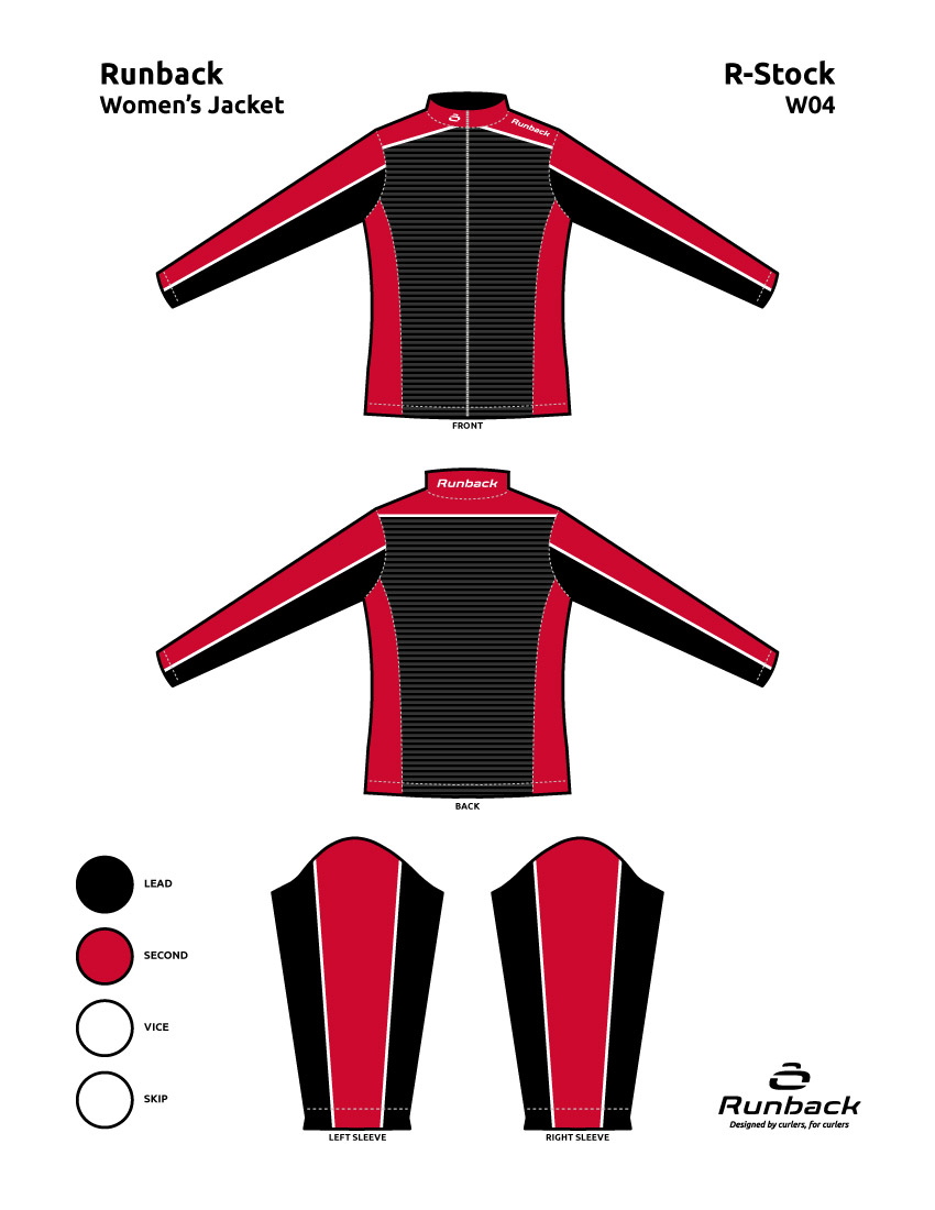 Runback Curling Jacket Stock Design W04