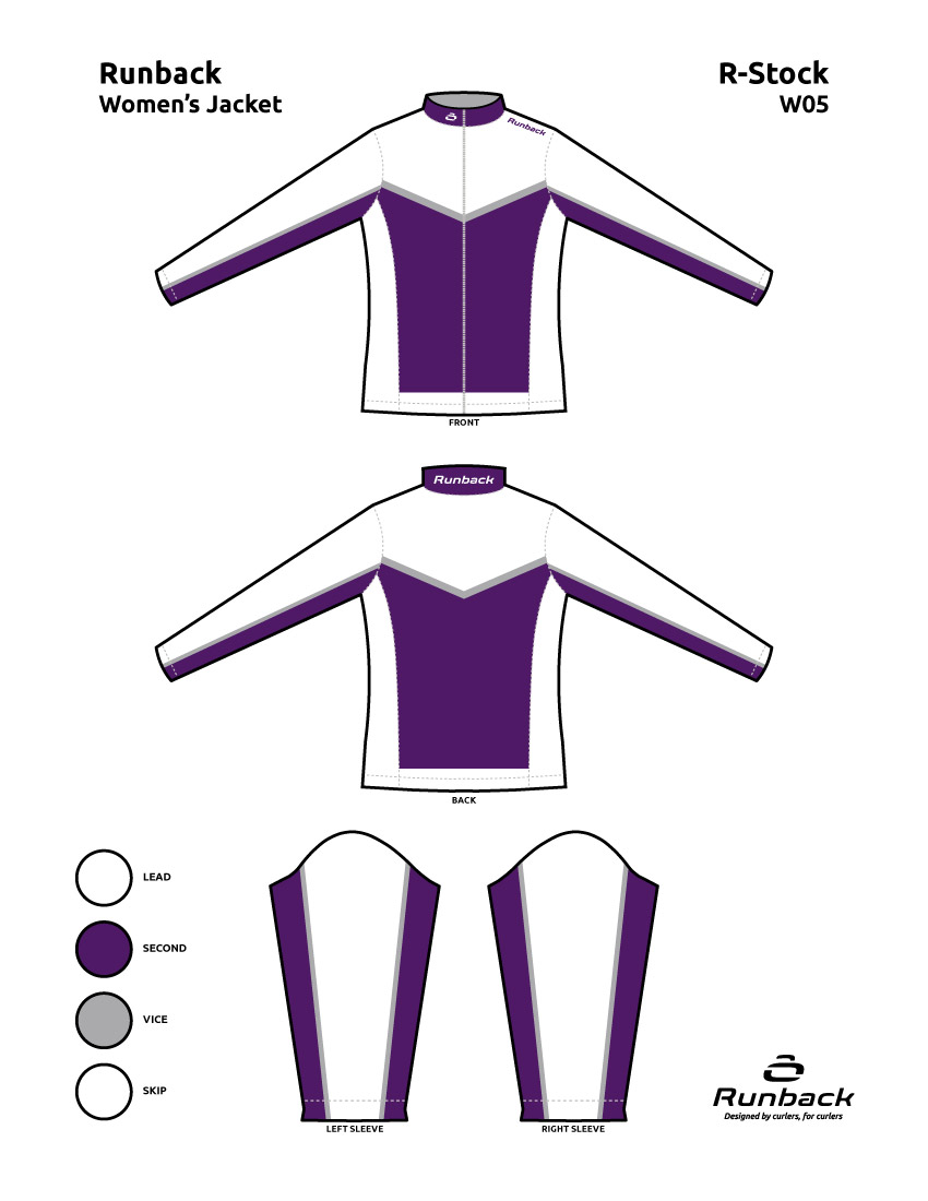 Runback Curling Jacket Stock Design W05
