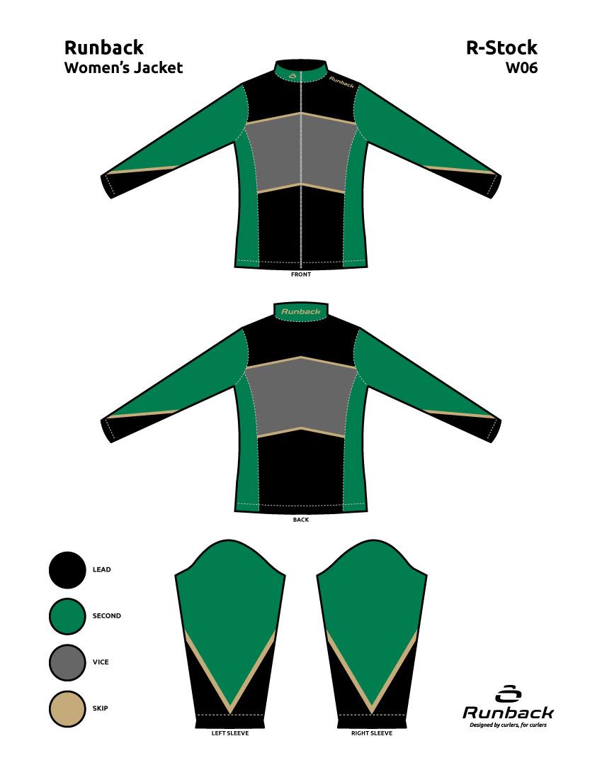 Runback Curling Jacket Stock Design W06