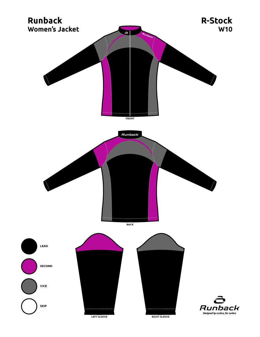 Runback Curling Jacket Stock Design W10