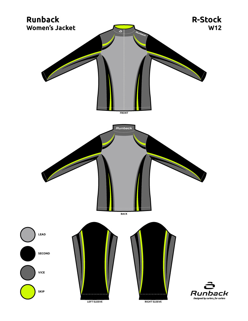 Runback Curling Jacket Stock Design W12