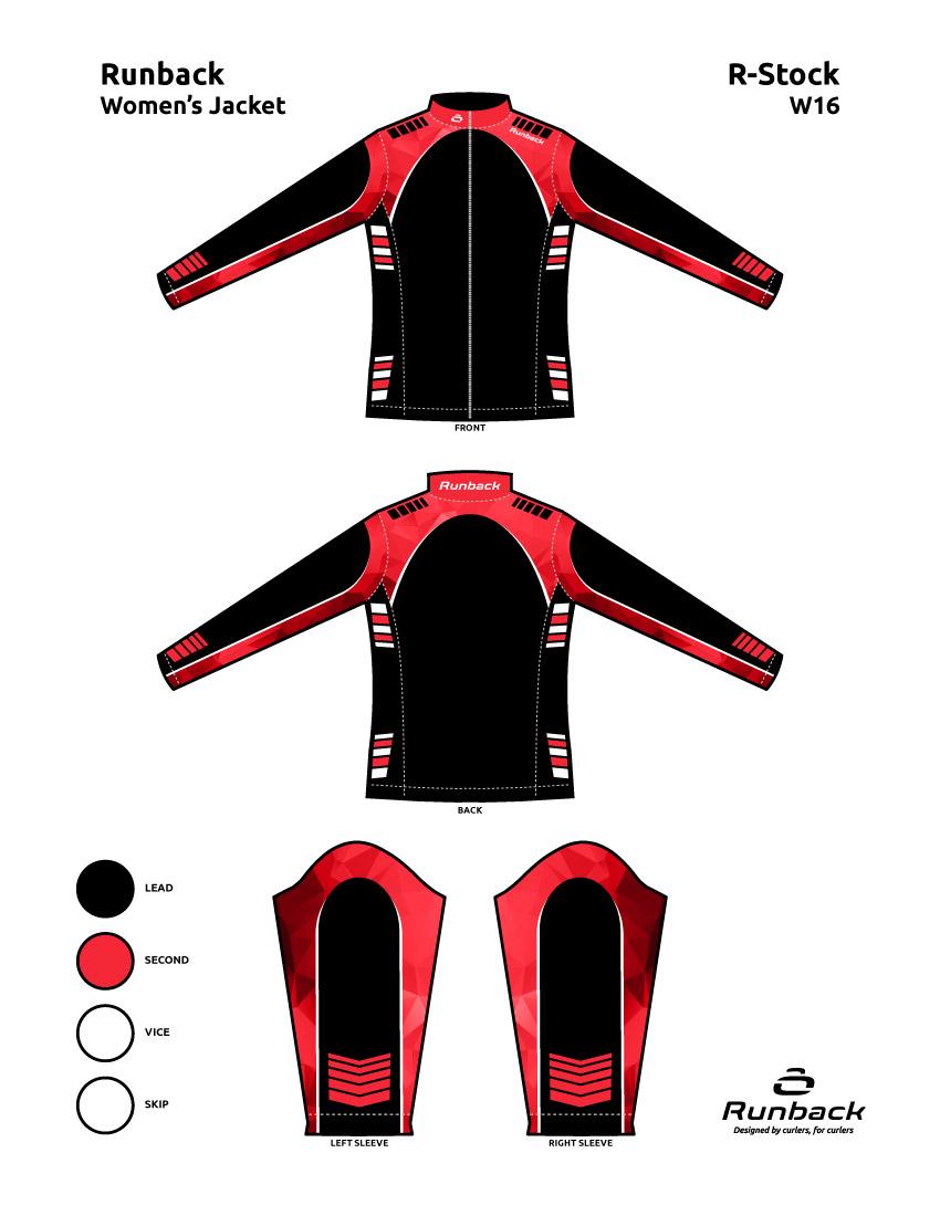 Runback Curling Jacket Stock Design W16