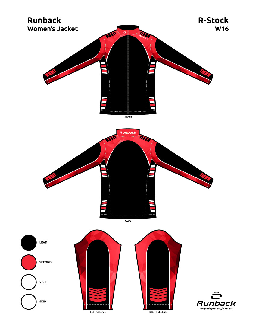Runback Curling Jacket Stock Design W16