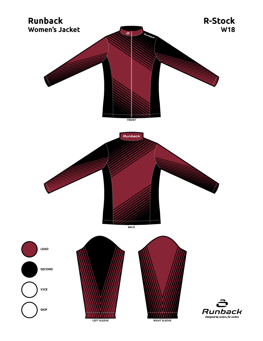 Runback Curling Jacket Stock Design W18