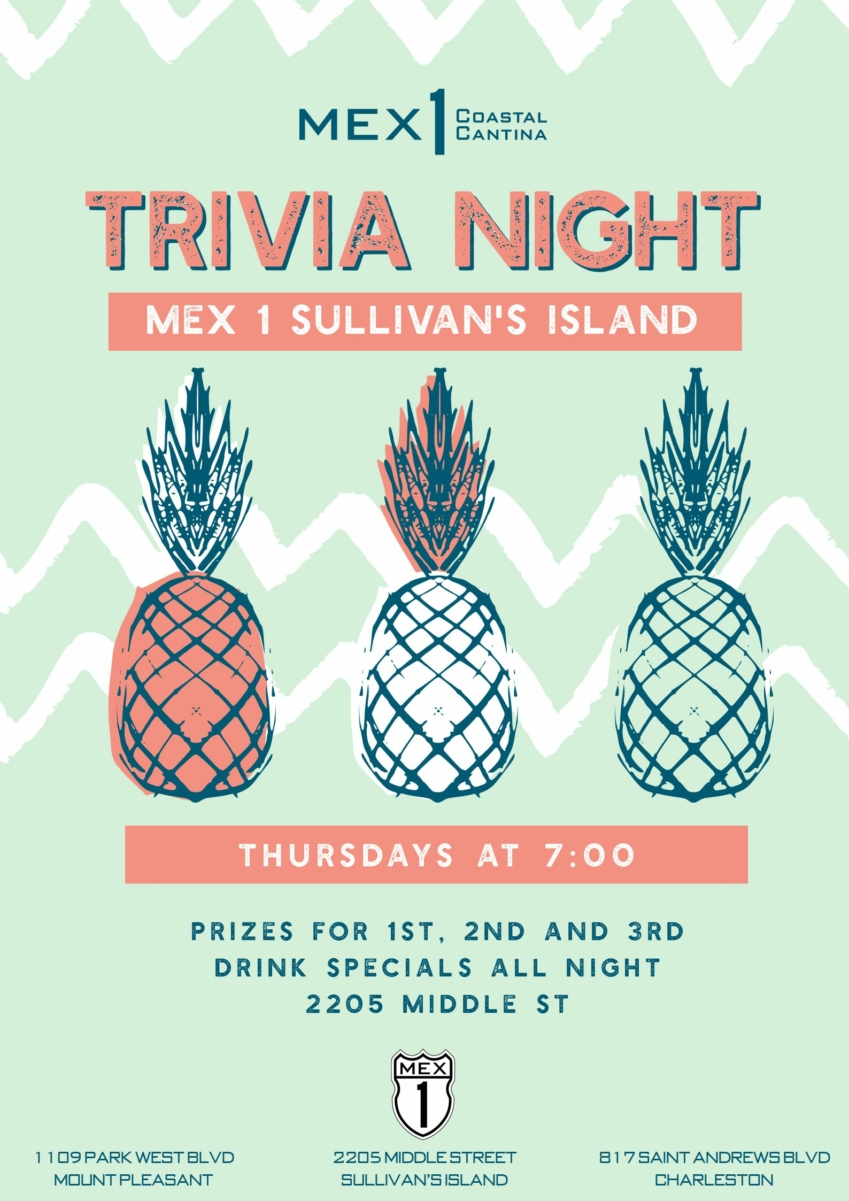 Mex 1 Sullivan's Island Trivia Nights on Thursdays