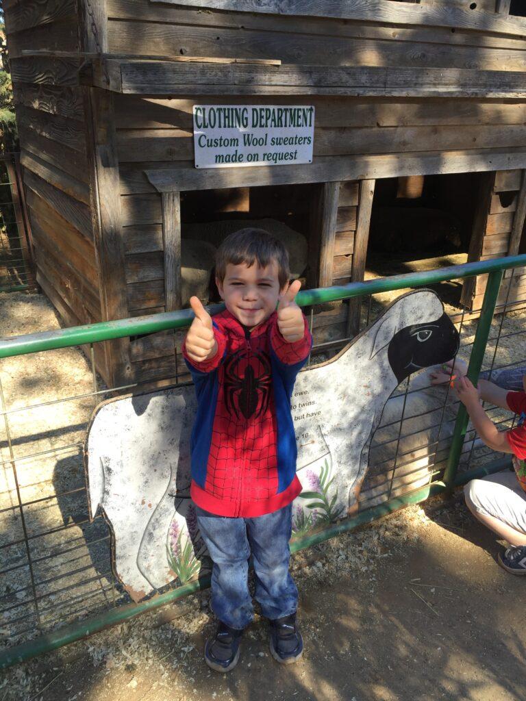 Zeke visiting the farm