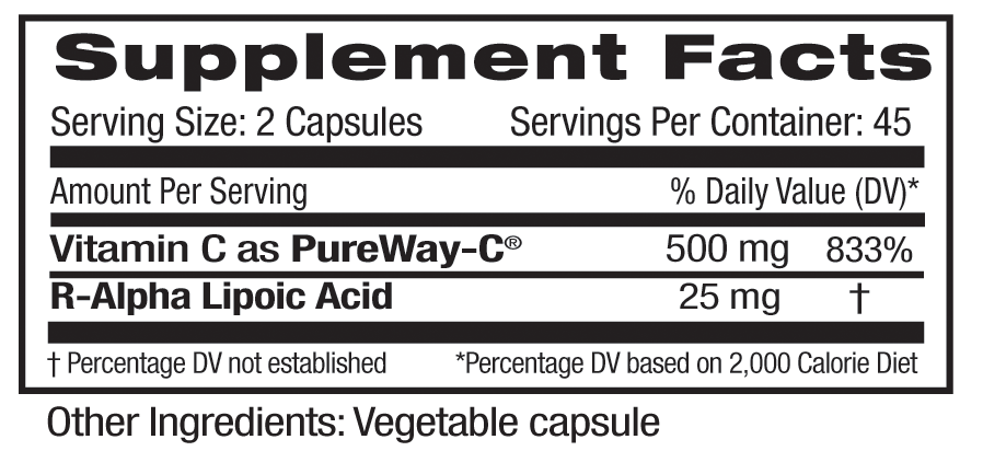 Emerald PureWay-C Supp Facts