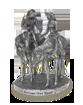 silver ornamental statue