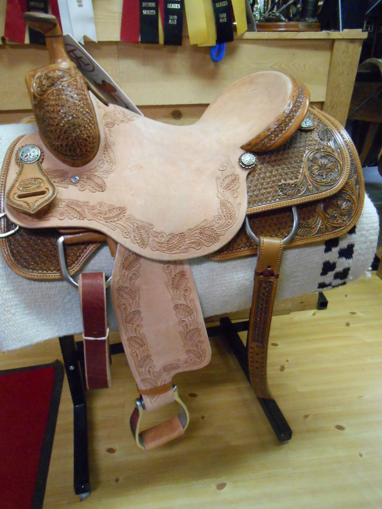 Reinsman #4822 16 1/2″ Cowhorse Wide Fit Saddle