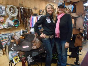 Cricket Gitner and Tammy White Champion Barrel Racers