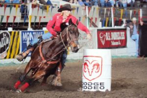 Tammy Whyte Champion Barrel Racer