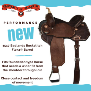 Luck Saddlery Badlands Series Saddle Circle Y