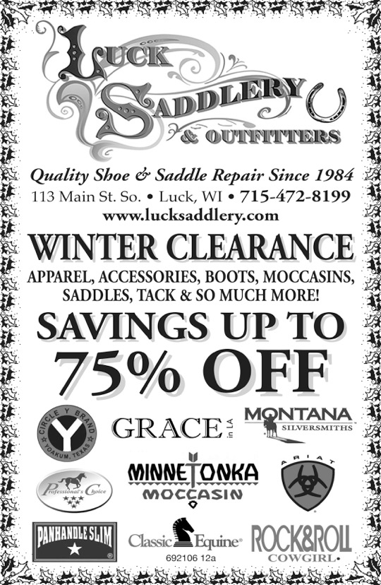 luck saddle 7.5 x 11.5.jpeg Winter Clearance Sale