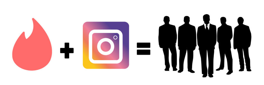 Marketing your Instagram on Tinder leads to a mostly male audience