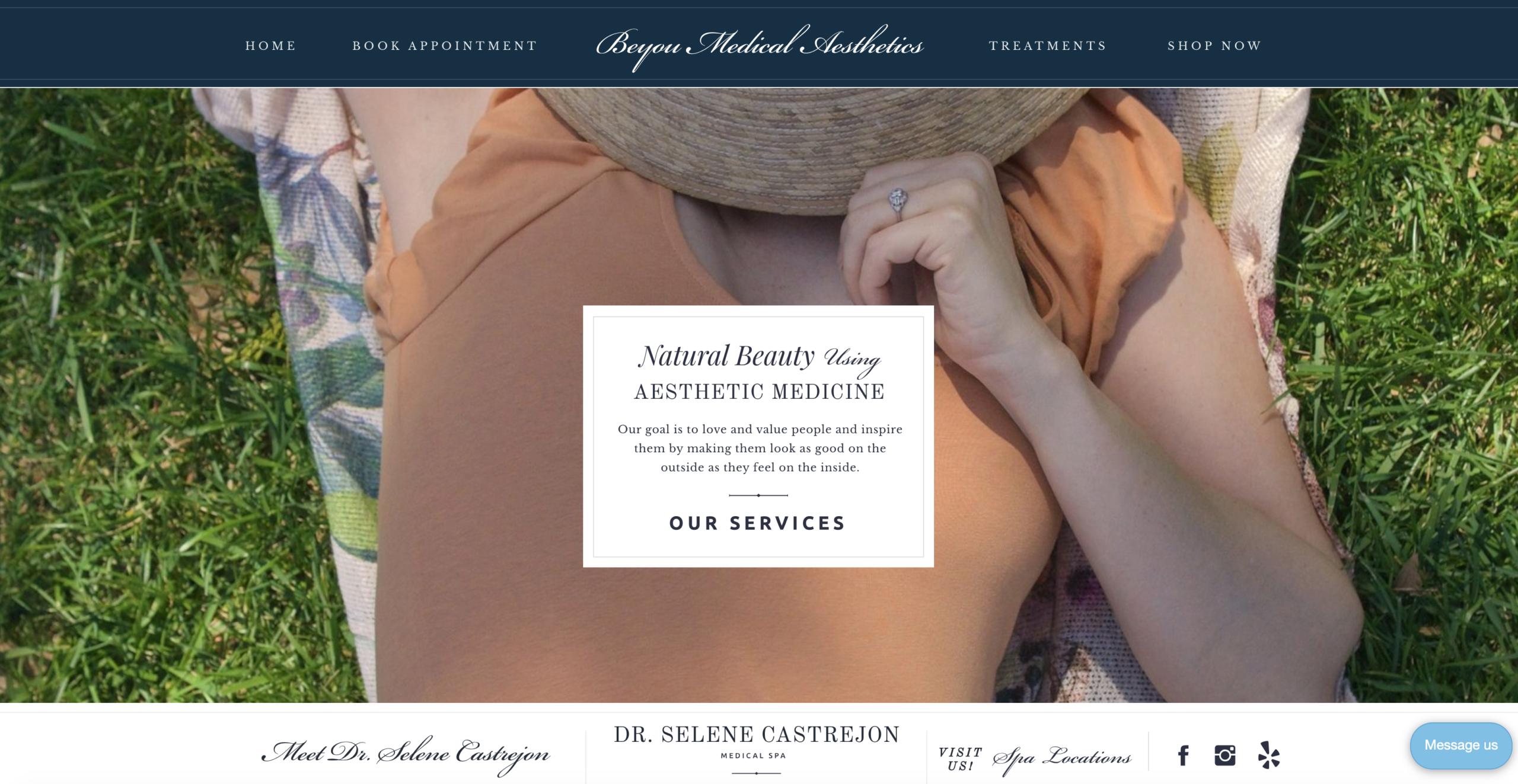 new natural medical aesthetics doctor selene castrejon medical aesthetics spa web design website development los angeles