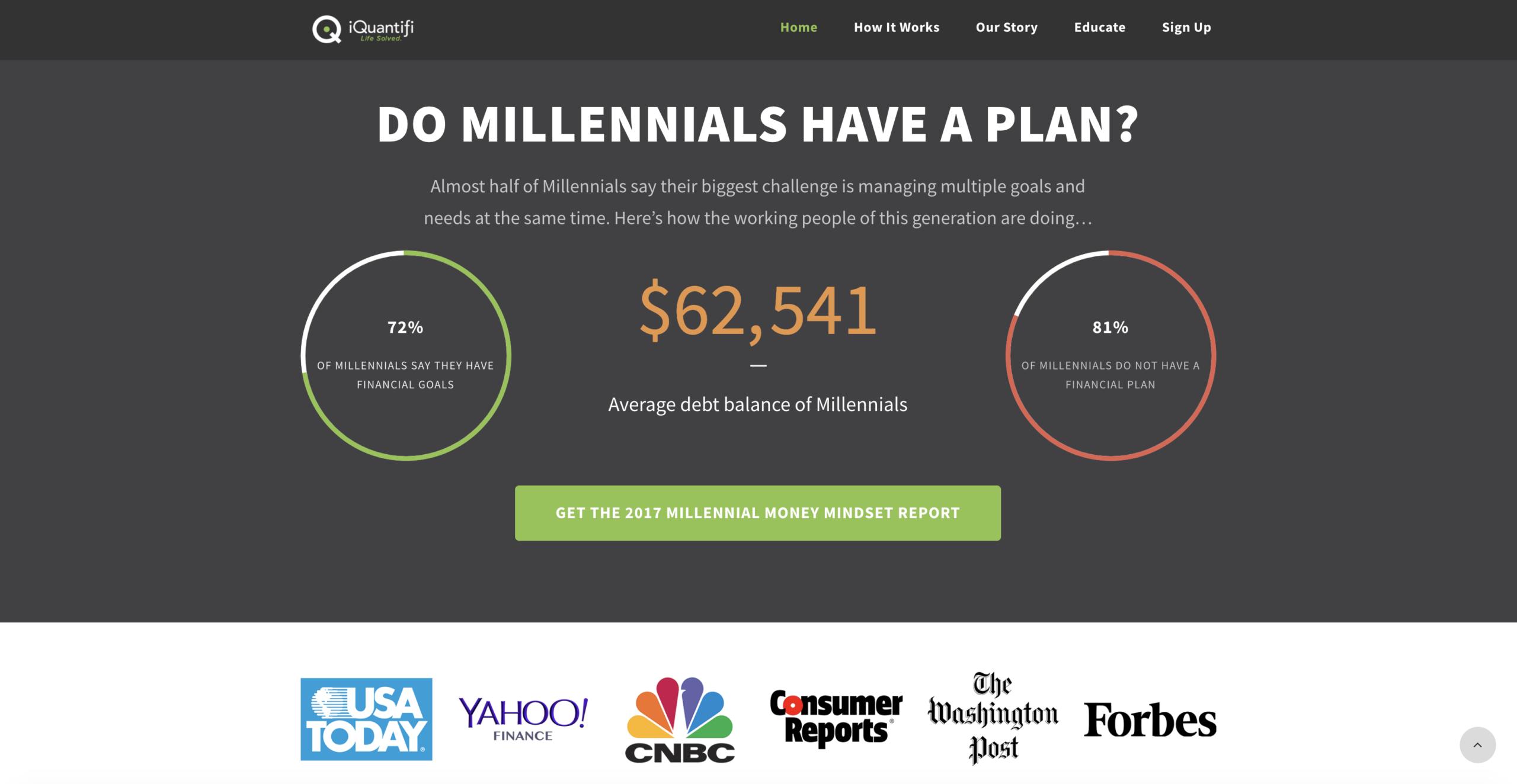 my robo planner iquantifi financial planning web design website development los angeles