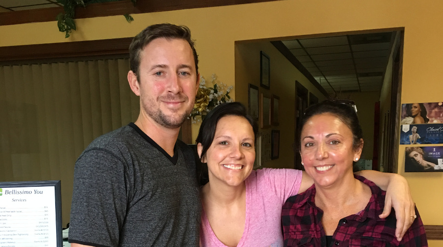 clients at day spa in tampa