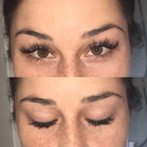 eyelash extension closeup
