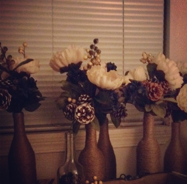 """""""Finished"""" centerpieces!"""