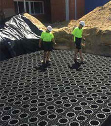 ACO Stormwater Management Infiltration System Installation