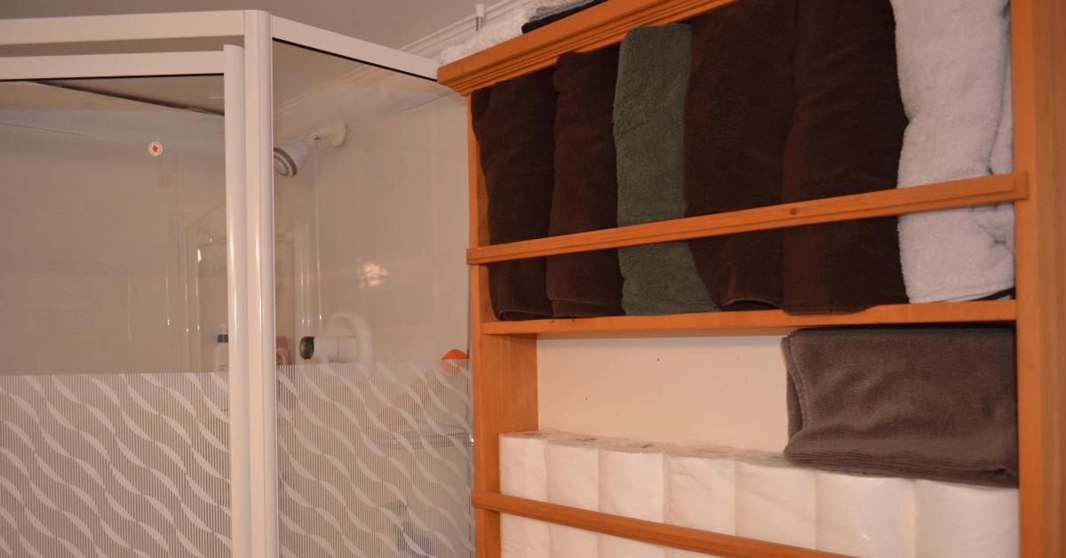 bathroom glass door near Orlando