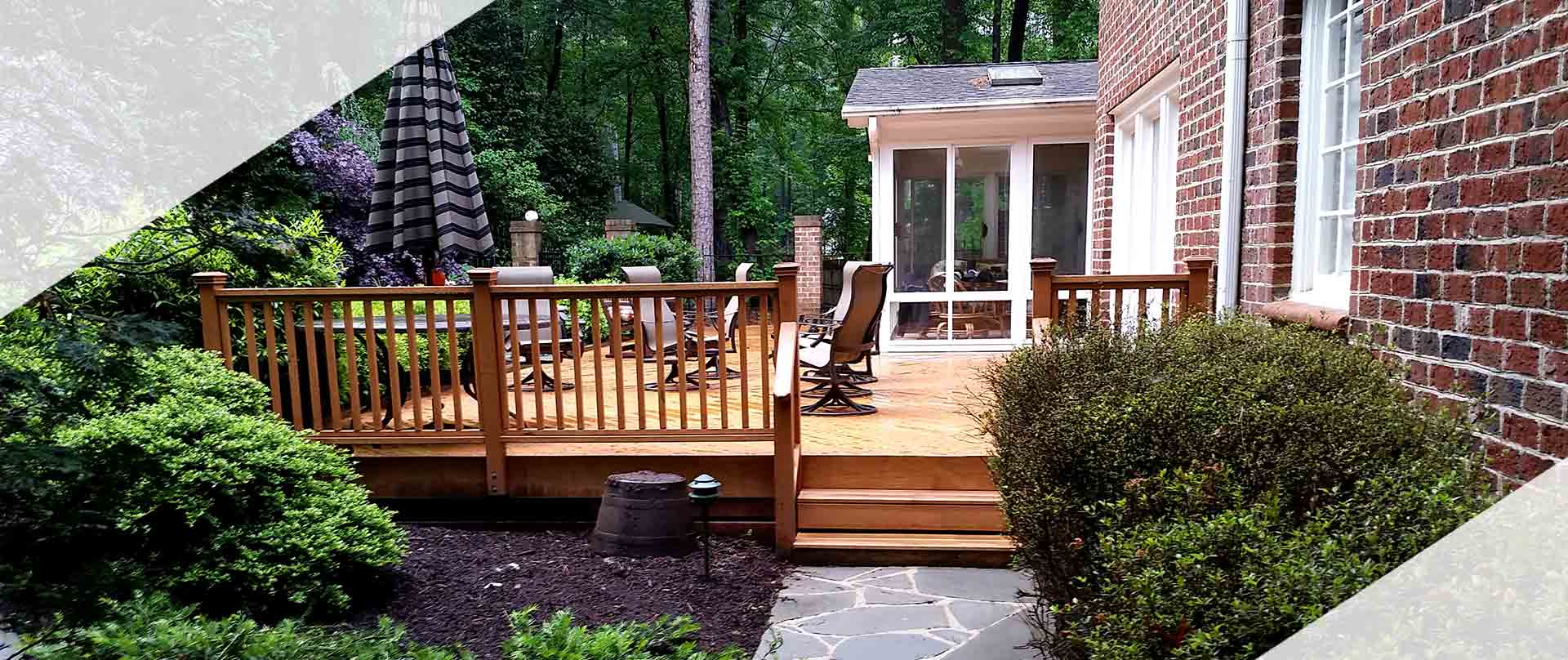 Deck and Sunroom