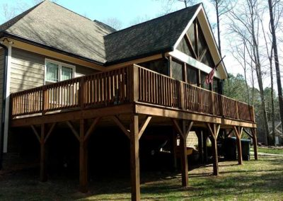 Custom Deck Built Around Screened Porch