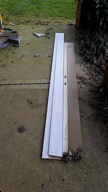Door jamb damage from wood rot