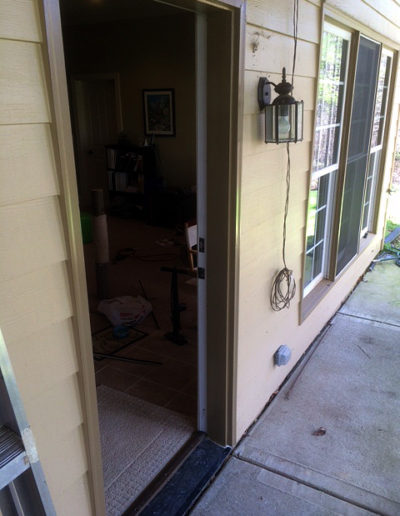 Installation of new door jam