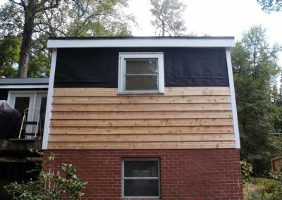 Installation of siding on a home exterior