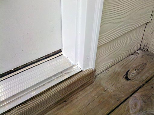 Door Frame Wood Rot Repair