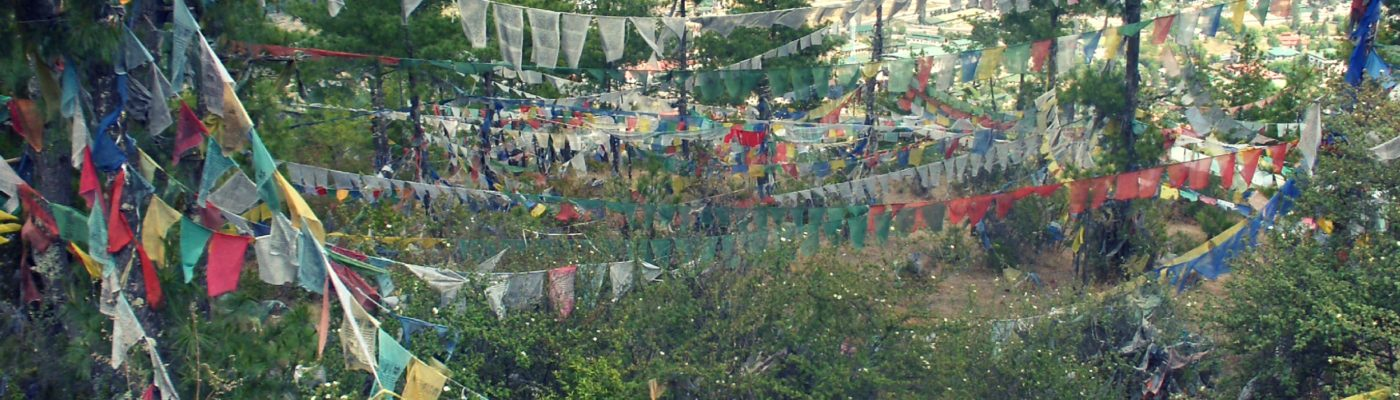 Prayer flags at La Docha Pass