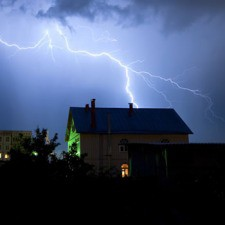 A Lighting Strike just a short distance from this home