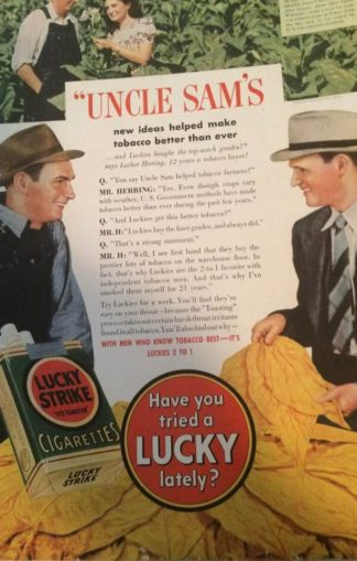 1940 Lucky Strike Ad