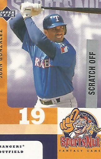 2003 Upper Deck MVP SportsNut #SN58 Juan Gonzalez