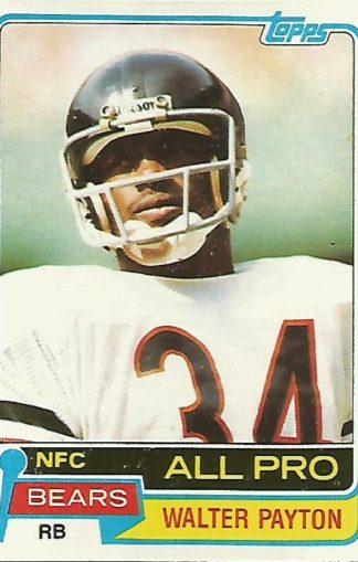 1981Topps #400 Walter Payton