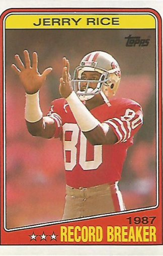 1988 Topps #008 Jerry Rice Record Breaker