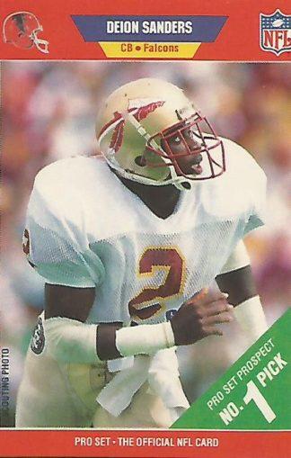 1989 Pro Set #486 Deion Sanders Rookie