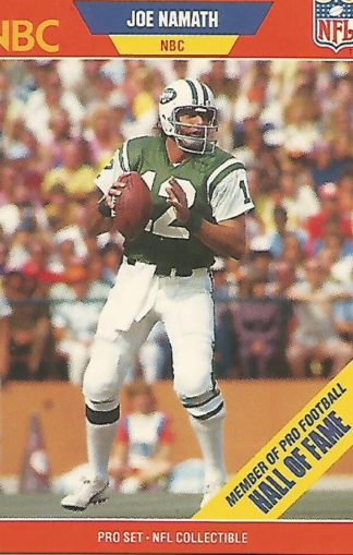 1989 Pro Set Announcers #025 Joe Namath