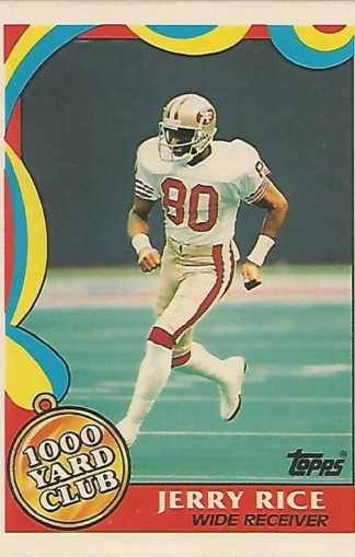 1989 Topps 1000 Yard Club #005 Jerry Rice