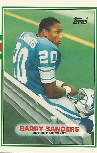 1989 Topps Traded #83t Barry Sanders Rookie Card