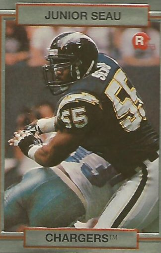 1990 Action Packed Rookie Update #038 Junior Seau Rookie