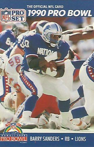 1990 Pro Set #413 Barry Sanders Pro Bowl