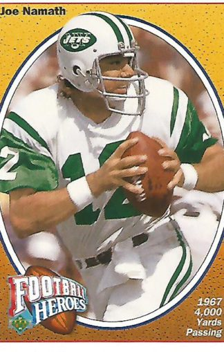 1991 Upper Deck Joe Namath Heroes #012