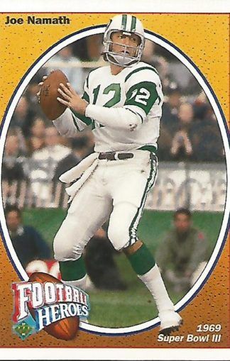 1991 Upper Deck Joe Namath Heroes #014