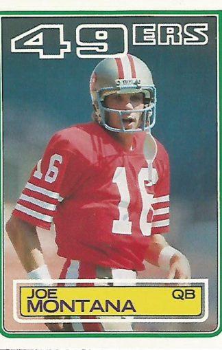 1983 Topps #169 Joe Montana