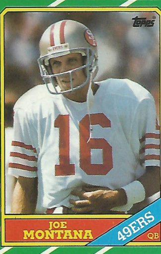 1986 Topps #156 Joe Montana