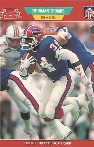 1989 Pro Set #32 Thurman Thomas Rookie